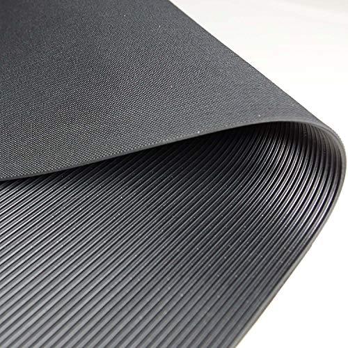 1m² Feinriefenmatte Premium 1,2 x 0,83m, weniger Gummigeruch, Stärke: 3mm, Schwarz