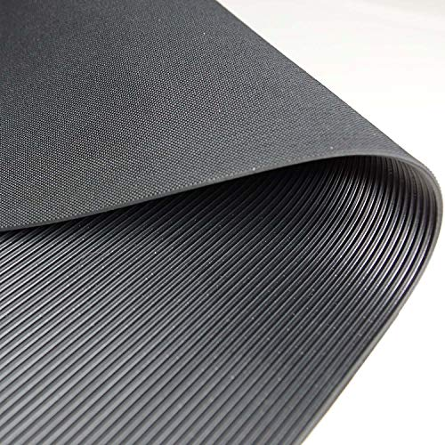 Feinriefenmatte Premium | weniger Gummigeruch | 1m² 1,0 x 1,0m [Größe wählbar] Stärke: 3mm | Farbe: Schwarz