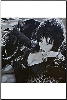 Black Market Art Mistress of the Dark by Mike Bell Elvira Horror Movie Hostess Tattoo Art Print
