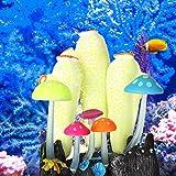 banapoy Decoración de paisajismo de Acuario, 4.72X3.74X2.56 Pulgadas Rosa Blanco Gel de sílice Emulación Decoración de paisajismo, Decoración(Yellow and White)