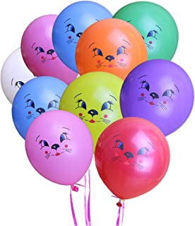 KUMEED Cat Face Balloons Mixed Color 12