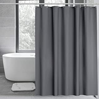 Riyidecor Clear Water Cube 180x70 Inch Shower Curtain Panel with Magnets Clawfoot Tub Bathroom Decor PEVA Vinyl Set All Wrap Around 32-Pack Metal Shower Hooks Extra Wide