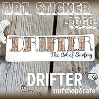 DRIFTER surf shop & cafe (ドリフター サーフショップアンドカフェ) Rob Machado ART STICKER LOGO ロブ・マチャド アートステッカー ロゴステッカー サーフィン シール