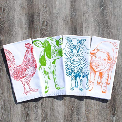 Table Napkins Set of 4 Farm Animals