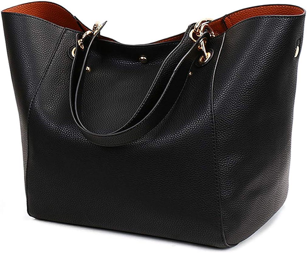 Tote Handbags for Women Faux Leather Hobo Bags Large Bucket Trav