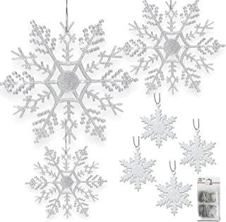 BANBERRY DESIGNS Snowflake Christmas Ornaments - Set of 80 Snowflakes - 2