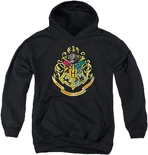 Harry Potter - Sudadera con capucha Youth Hogwarts Crest, tamaño mediano, color negro.