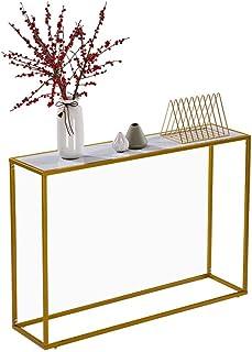 Table Console Marbre Table d'appoint pour Entrée Table de Canapé en Faux Marbre Table d'entrée pour Le Salon Table d'entré...