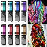 Lictin Haarkreide Kamm Haarfarbe Kreide Kamm Haarkreide Kinder Auswaschbar 8 Farben Hair Chalk für...