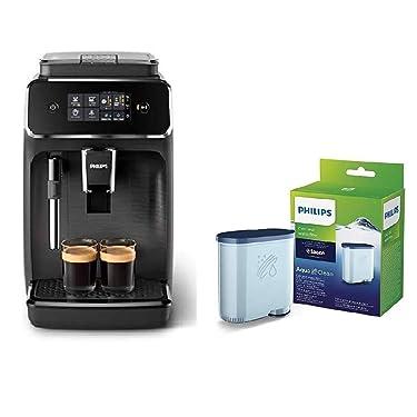 Philips EP2220/10 SensorTouch Benutzeroberfläche Kaffeevollautomat, schwarz/schwarz-gebürstet + Kalk CA6903/10 Aqua Clean Wasserfilter für Kaffeevollautomaten, Kunststoff