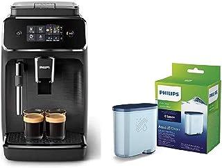 Philips EP2220/10 Cafetera superautomática, Acero Inoxidable, Negro Mate + CA6903/10 Filtro de Agua Aquaclean para Máquina...