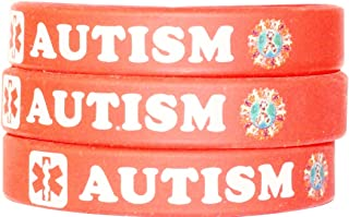 MCI Medical Alert Wristbands Autism Youth Medical Alert Wristband Bracelet