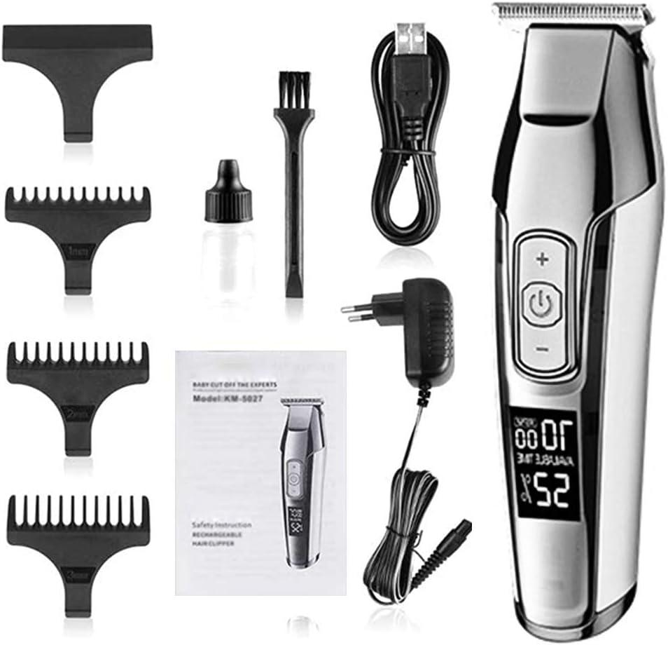 Cash special price Regular store ZCFXGHH Barber Professional Hair Clipper LCD Display 0mm Baldhea