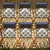 Solarleuchten für Außen, 6 Stück Solar Wandleuchten Garten Wandleuchte Aussen Solarlicht Garten mit Hohlem Design Solarleuchte Wand Wasserdichte Solarlampen für Garten Deko für Zaun, Einfahrt, Garage