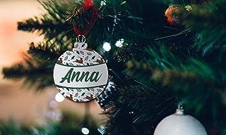 Bolas decorativas árbol de Navidad - Bolas en madera navideñas Personalizadas - Bolitas en madera Personalizadas Para Navi...