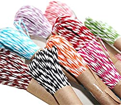 Newbested 12 Colors Raffia Stripes Paper String for DIY Making Twisted Paper Craft String/Cord/Rope, 2mm Thickness,120 Yards(120M).
