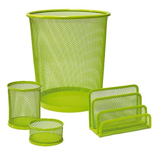 Plus Office CQY-3172-GN - Set de escritorio, color verde