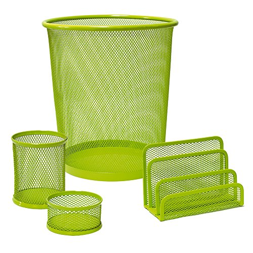 Plus Office CQY-3172-GN - Set de escritorio, color verde