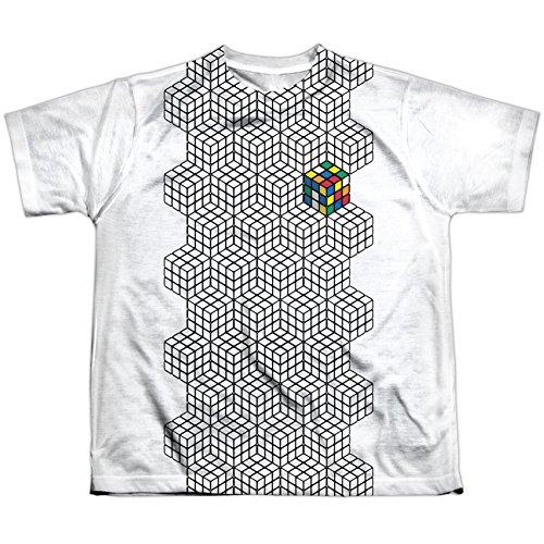 Rubik's Cube - Camiseta de manga corta - Camiseta gráfica - Manga corta - opaco - para niño blanco blanco Medium