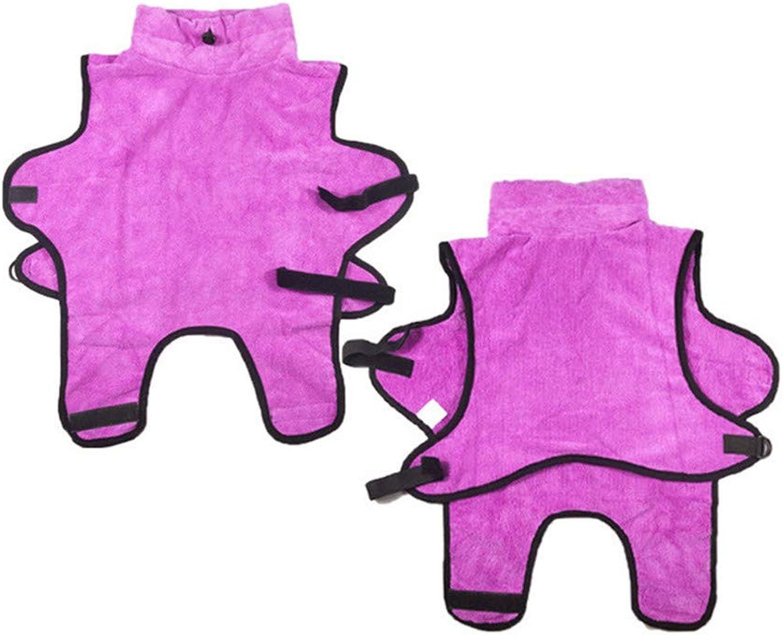Microfiber Pet Towel Bath Robe Cat Dog Bath Special Bathrobe,Pink,XS