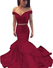Best beaded two piece mermaid tier dress Reviews