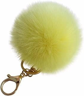 Faux Rabbit Fur Pom Pom Car Keychain Handbag Wallet Backpack Key Ring