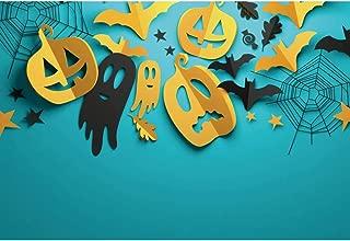 YongFoto 1,5x1m Halloween Fondo Patrón Papercut Fotografía Fantasma Calabaza Murciélagos Spider Net Hojas Fondo Truco o Trato Víspera de Todos los Santos Foto Fiesta Decoración Retratos