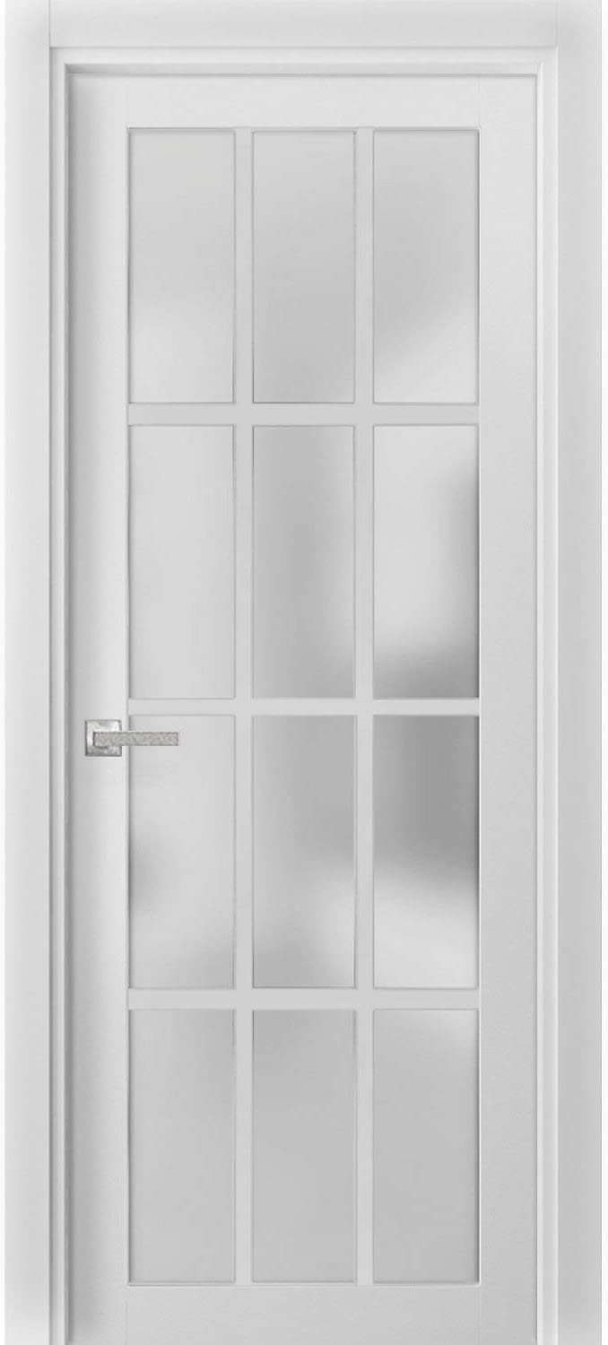 Solid French Door Frosted Glass 12 Felici inches Popular product Max 71% OFF x 80 Lites 36
