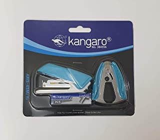 KANGARO ARIS 45M/Y Stapler with Staples and Staple Remover Blue