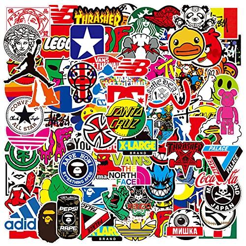 Trend Aufkleber Decals (100 Stück), Laptop Vinyl Aufkleber für Wasserflasche, Trinkflasche, Snowboard, Erhöhen, Motorrad, MacBook, Zauberstab, DIY Party Supplies Patches Decal