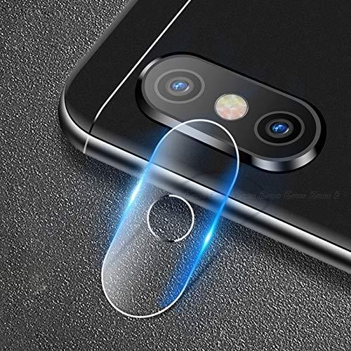 Dmtrab para [10 PCS] Protector de Pantalla para Xiaomi MI A2 Lite, 2.5D Película de Vidrio Templado de Lente de cámara Trasera...