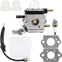 Kizut C1U-K54A Carburetor for 2-Cycle Mantis 7222 7222E 7222M 7225 7230 7234 7240 7920 7924 Tiller Cultivator w Air Filter Fuel Line Repower Kit Echo TC-210 TC-210i TC-2100 Carb C1U-K82