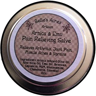 All Natural, Handmade Arnica and Emu Pain Relieving Salve - 4 oz