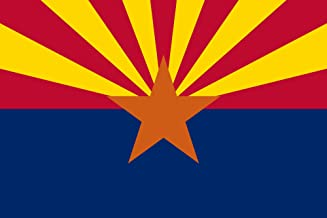 SoCal Flags Brand Arizona Flag 3x5 Foot Polyester State of Arizona - Sold by A Proud American Company Weather Resistant Durable - 100d Material Not See Thru Like Other Brands