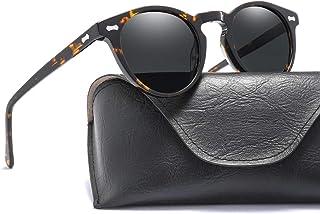 SGJFZD Men's Plate Rivet Classic Nail Sunglasses Retro Polarized Sunglasses Glasses (Color : Black)