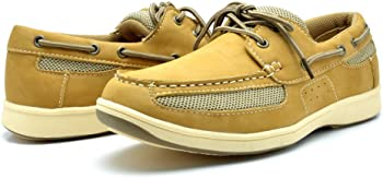 Kingshow Faux Leather Mens Boat Shoes