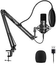 میکروفون یواس بی USB Plug & Play MAONO AU-A04 میکروفن میکروفن USB میکروفن شارژر 96KHZ / 24BIT پادکست با چیپست صوتی حرفه ای برای لپ تاپ Koraoke، اسکایپ، ضبط یوتیوب