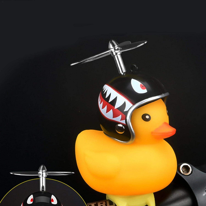 Longgaohui Duck Kids Bike Bell Duck Bicycle Lights Bell Squeeze Horn Timbre de Bicicleta con luz LED Patito de Goma Accesorios de Bicicleta para ni/ños peque/ños Ni/ños Adultos Deporte al Aire Libre