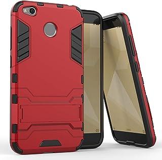 Xiaomi Redmi 4X -Shockproof Kickstand TPU Hybrid Back Case Cover -Red