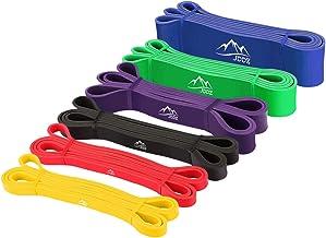 Vinpie Oefening Weerstandsbanden Set 5 stapelbare oefenbanden Thuis Stretch Training Workout Bands met deuranker Handgrepe...