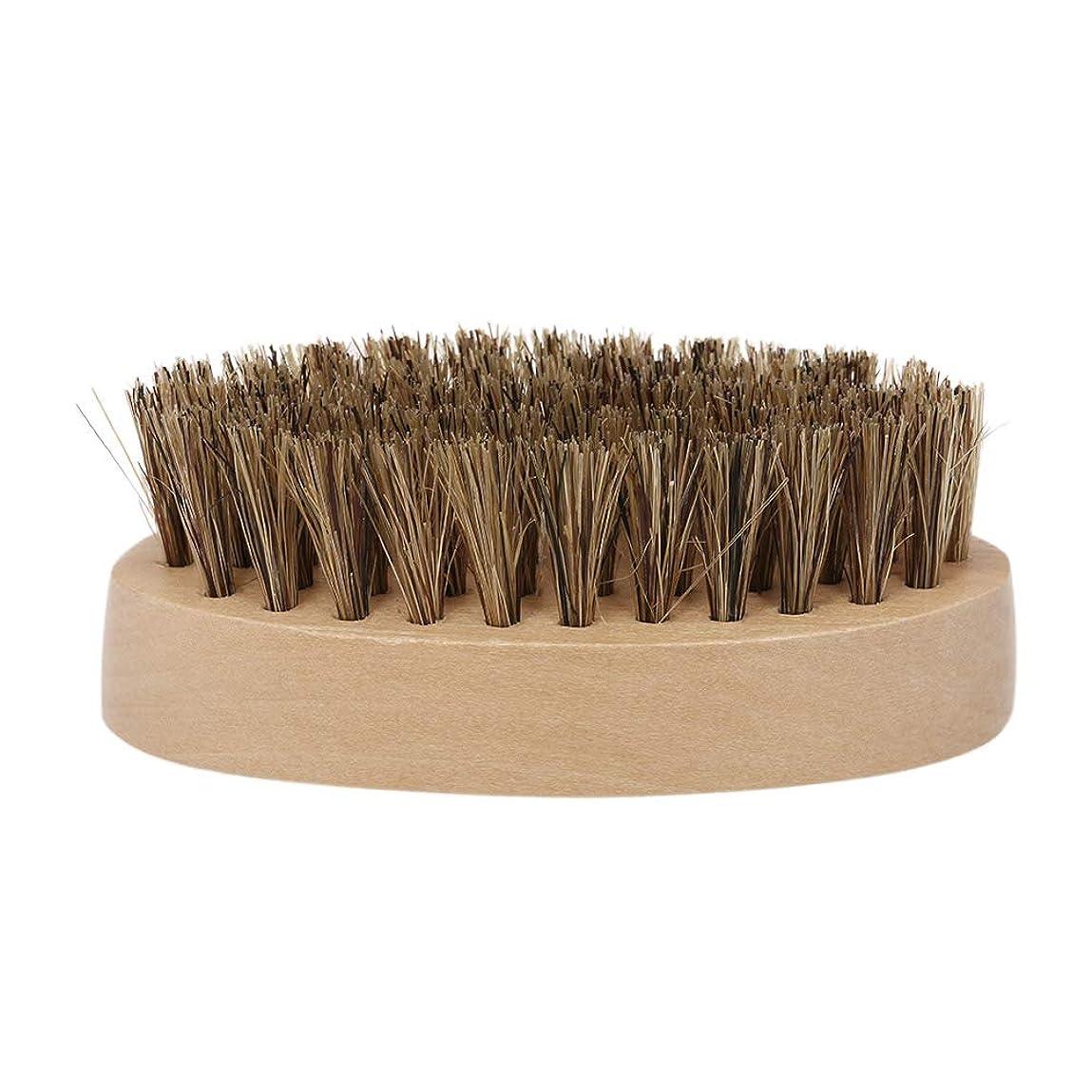 準備ができて学んだ再発するDecdeal ひげブラシ シェービングブラシ メンズ用 ポータブル 木製 剃りグルーミングツール