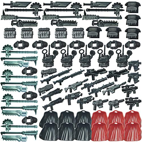 SENG Juego de 81 armas personalizadas para soldados mini figuras de la policía SWAT Team de Lego.