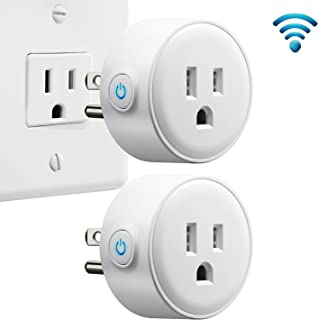 Smart Plug (2-Pack) Wi-Fi Enabled Mini Smart Switch Compatible with Alexa, Smart Phone and Remote Control Anywhere