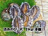 活蝦夷あわび 大 1kg(8個)�