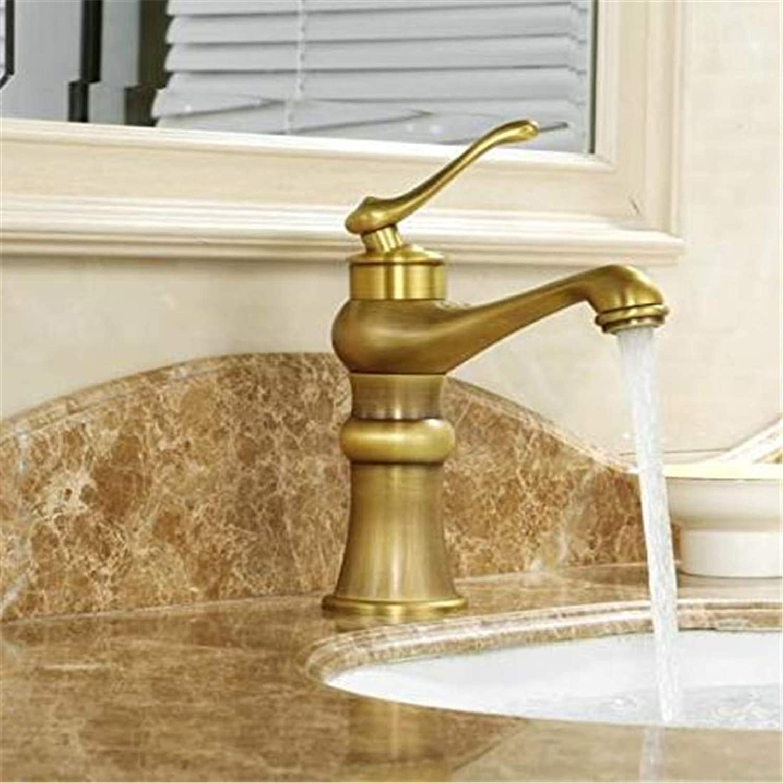 Chrome Kitchen Sink Tapcold Copper Washbasin Faucet European Retro Single Hole Wash Basin Basin Faucet