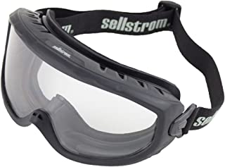 Sellstrom S80225 Wildland Fire Goggle, Clear Lens, Non-Vented, Anti-Fog Coating, Adjustable FR Strap, NFPA / ANSI