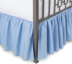 Fabricalicious Linen King Blue Ruffled Bed Skirt 21 inch Drop Split Corner, Wrinkle & Fade Resistant