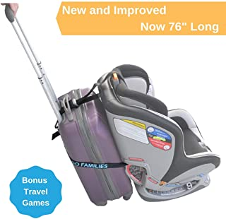 Car Seat Luggage Strap by On The Go Families - Travel Accessory to Turn Your Carry-On Suitcase into Carseat Carrier & Stroller for The Airport - Make Traveling with Toddlers Easier - Light & Portable
