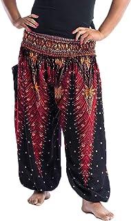 Nuofengkudu Unisex hippie byxor stora storlekar harembyxor pumpbyxor yogabyxor