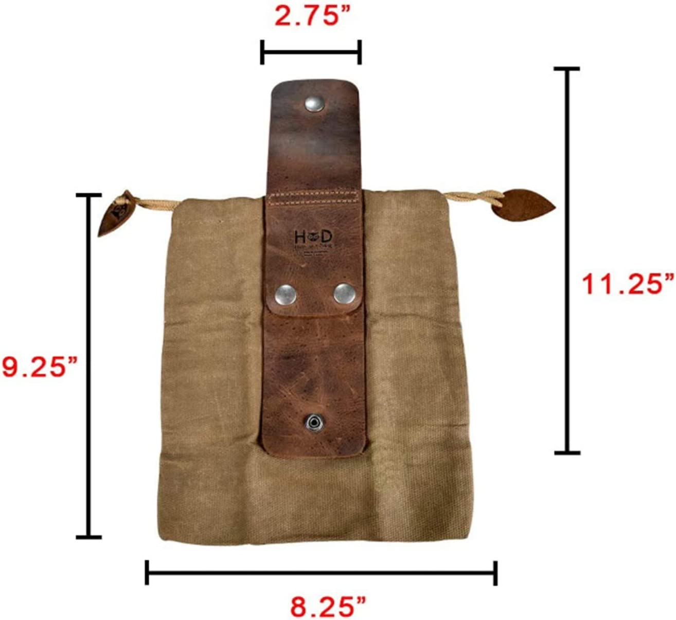 Leather and Canvas Bushcraft Bag,Canvas Foraging Bag Collapsible Waist Packs for Treasures /& Seashells Outdoor,for Hiking
